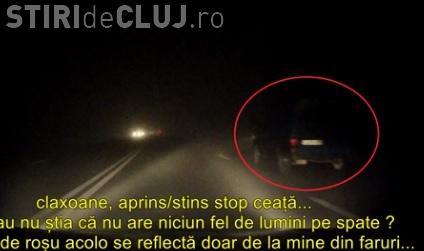 """La Cluj e ceată pe drum, iar șoferii au """"ceață pe creier"""" - VIDEO"""