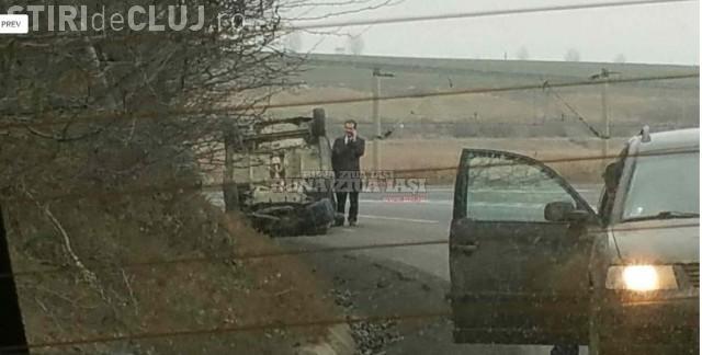 Ludovic Orban a fost implicat într-un accident rutier. Mașina politicianului s-a răsturnat FOTO
