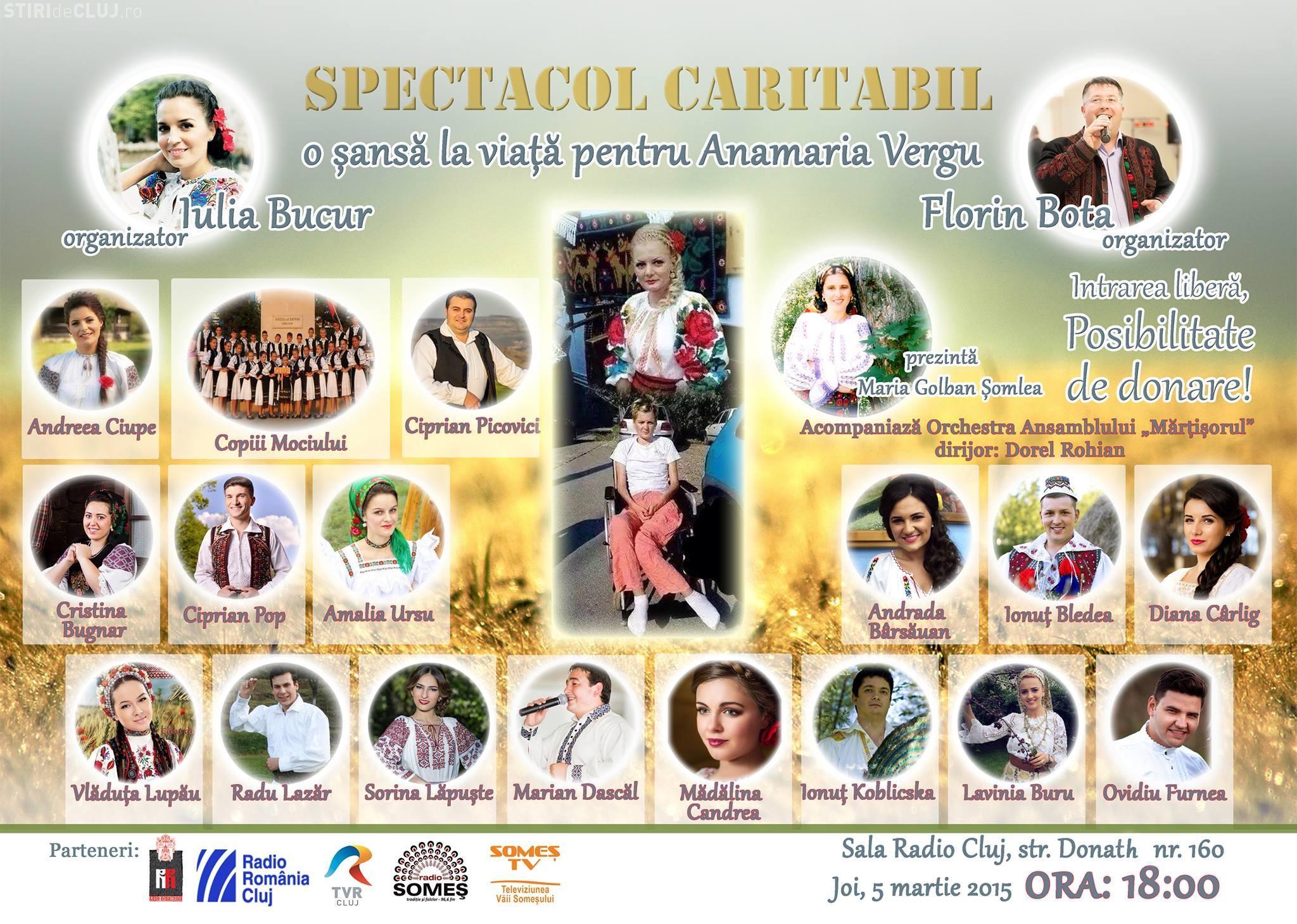 Concert caritabil la Cluj pentru o cântăreață victima unui accident de circulație