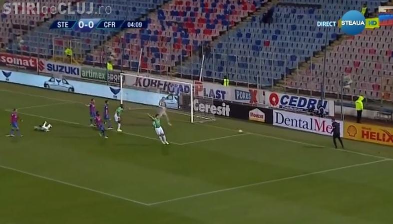 Steaua - CFR Cluj 1-0. Clujul lui Trică se afundă - REZUMAT VIDEO