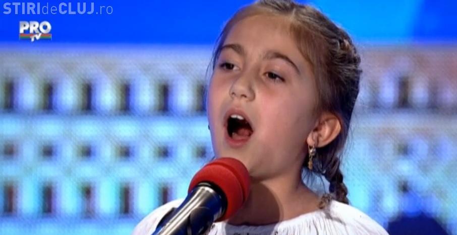 ROMÂNII AU TALENT. VIDEO cu Bianca Pană, fetița de 9 ani cu voce de aur