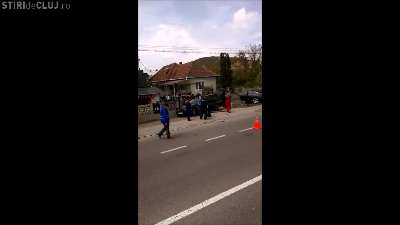 Accident la Jucu! Două BMW -uri s-au făcut VARZĂ - VIDEO