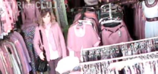 Hoață de telefoane, prinsă în flagrant de camera de supraveghere la Dej. Cum acționa VIDEO