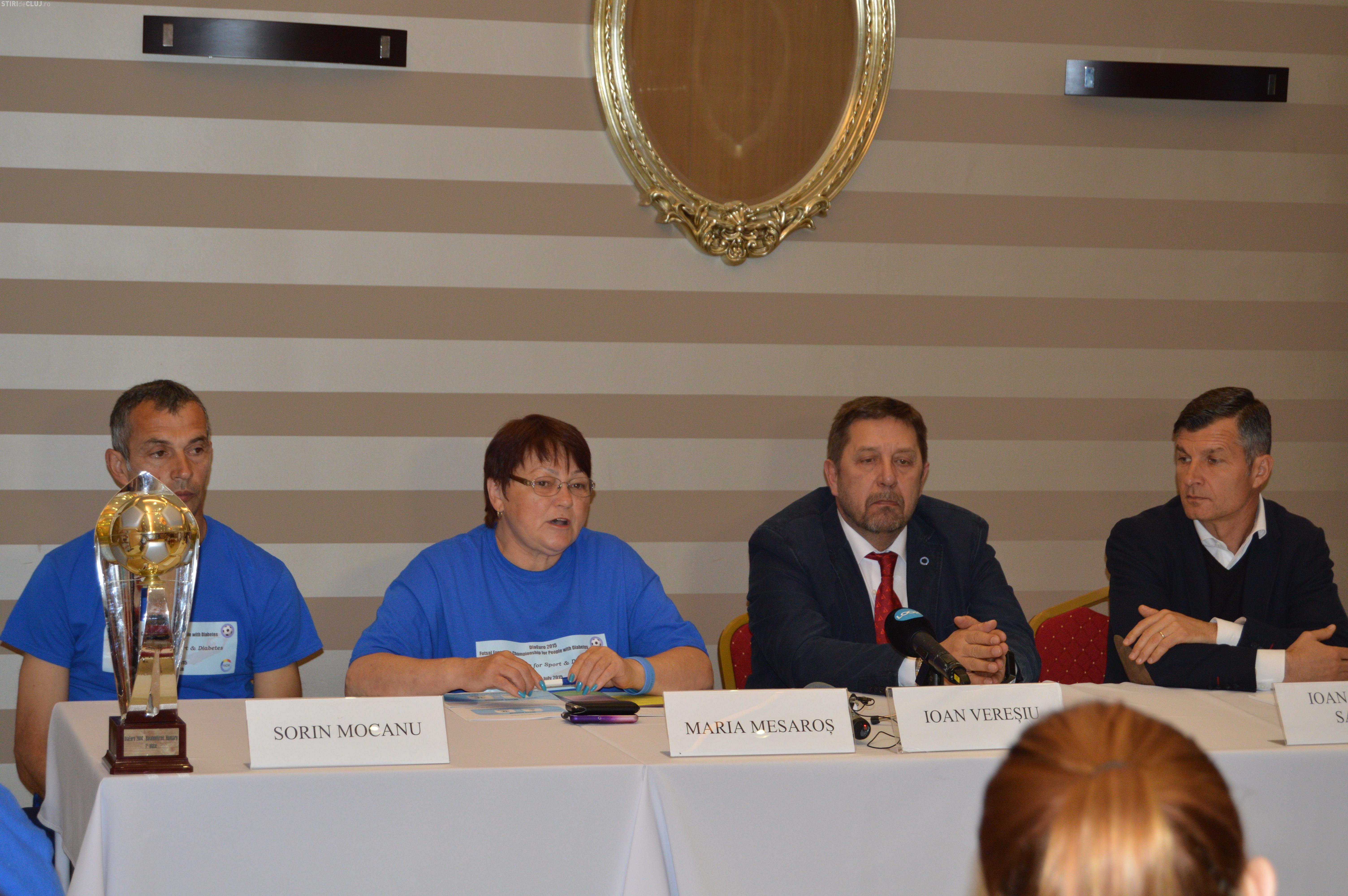 Meci de fotbal amical. Fostele glorii ale U Cluj joacă cu Naționala persoanelor cu diabet - FOTO