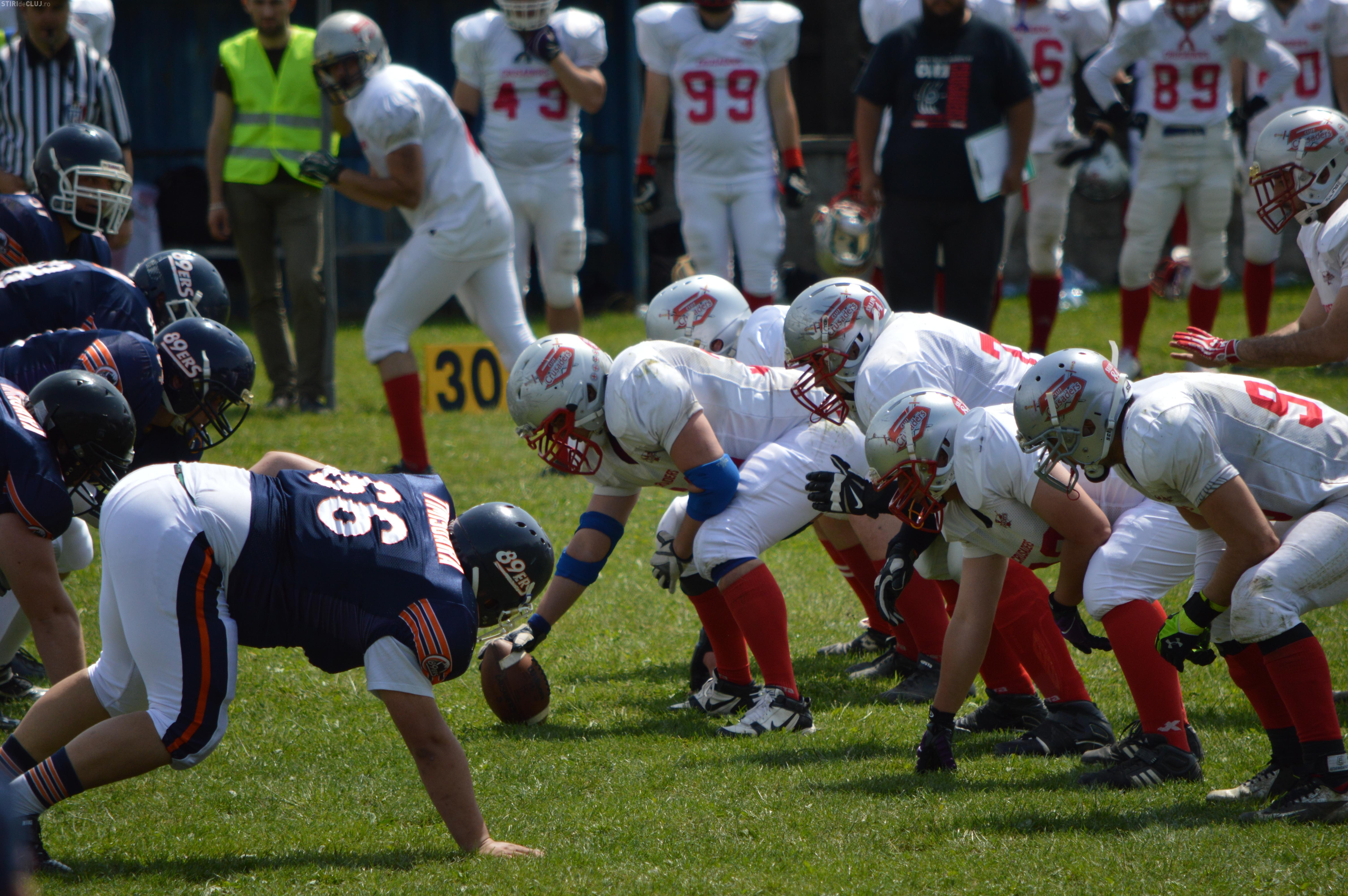 Cluj Crusaders a învins Timişoara 89ers și a câștigat derby -ul Campionatului Naţional de Fotbal American