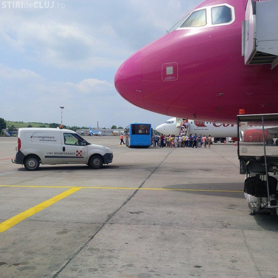 Avion Wizz Air oprit la Cluj de la decolare: Scârțâia ca o Dacie stricată - FOTO