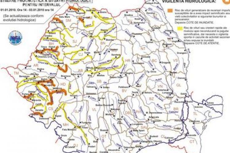 Pericol de inundatii la Cluj