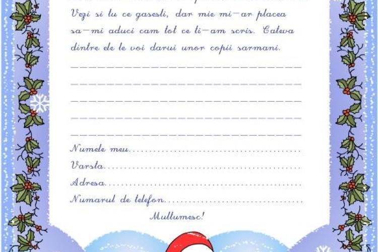 50 de copii din Cluj i-au trimis scrisoare lui mos Craciun