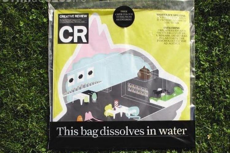 O firma din Marea Britanie a inventat punga care se dizolva in apa