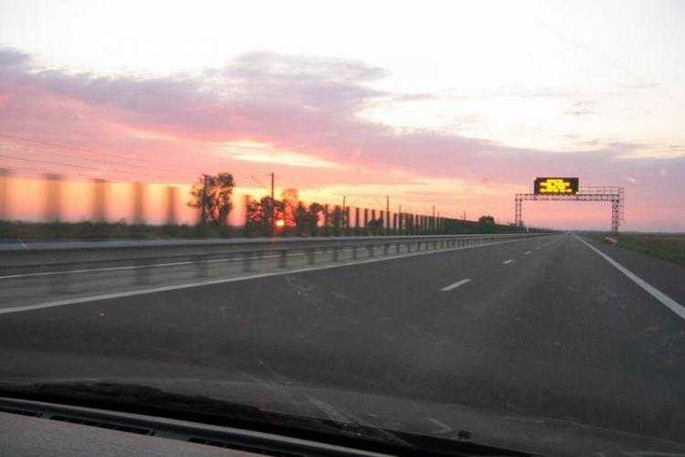 Cu 230 de km la ora pe Autostrada Transilvania