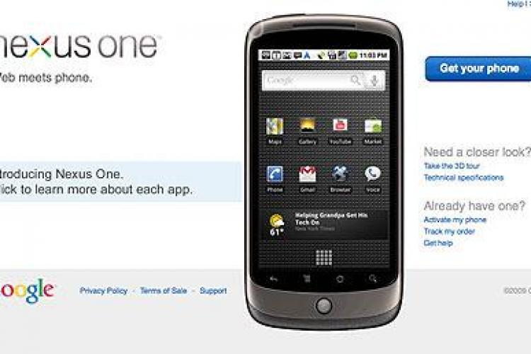 Google a lansat pe piata Nexus One-VEZI VIDEO
