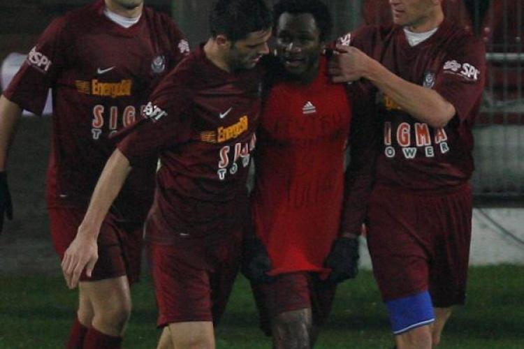 CFR Cluj a invins cu 2-0 Ceahlaul Piatra Neamt si a urcat pe primul loc