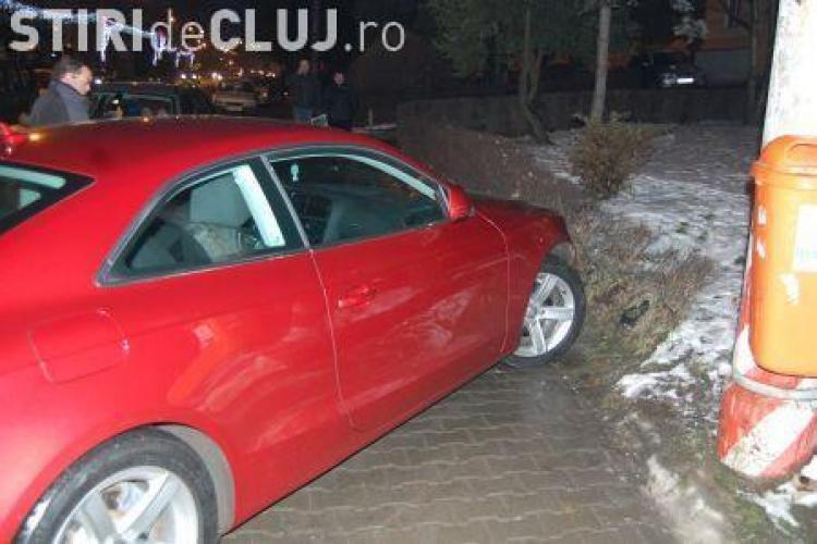 Accident provocat de un sofer beat mort langa Teatrul National din Cluj, urmat de un scandal la sectia de politie-VEZI VIDEO