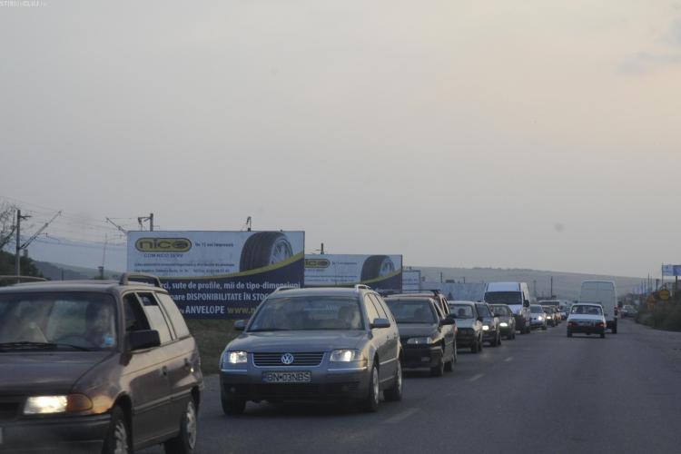 Traficul greu nu a fost scos din Apahida dupa inaugurarea centurii