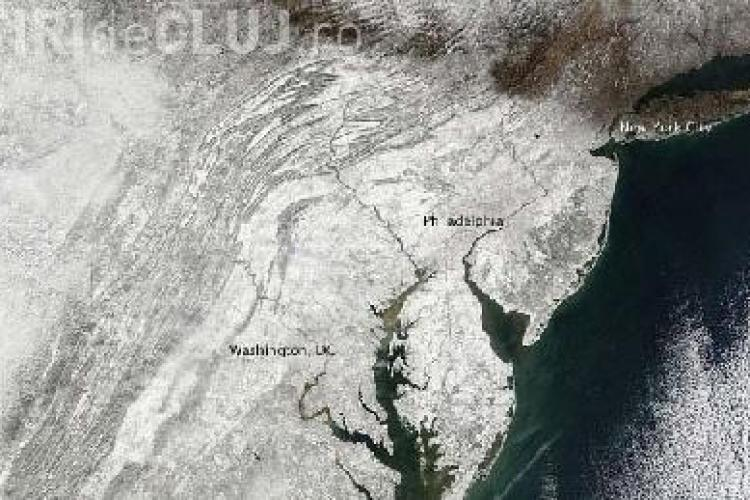 """Snowmageddon"" - ul din statele americane, fotografiat din spatiu"