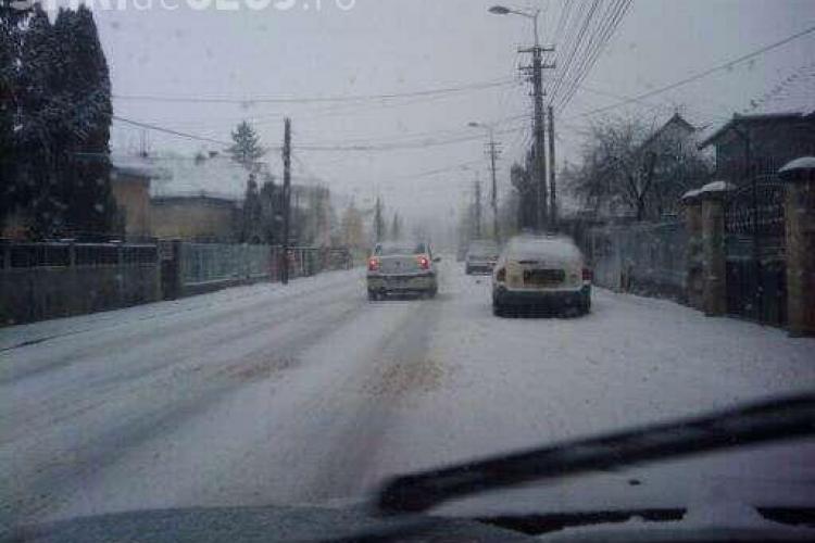 Cluj-Napoca, oras blocat de zapada cazuta la prima ora a diminetii