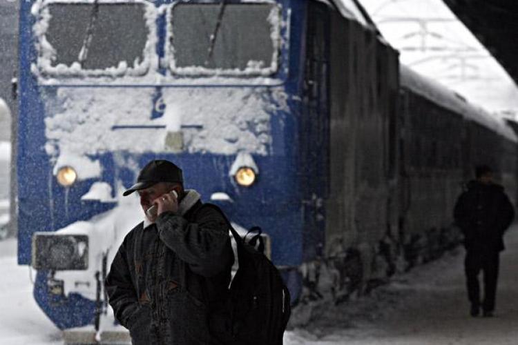 Patru trenuri accelerat au ajuns cu intarziere de sute de minute in Gara Cluj