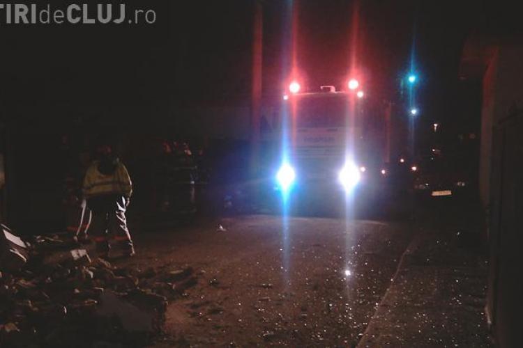 Explozie in Cluj - Napoca! O casa a explodat pe strada Caransebes din cartierul Someseni- VIDEO si  Galerie FOTO