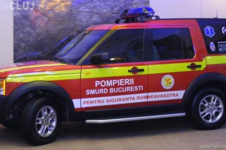 O autospeciala SMURD a fost lovita in plin de un tramvai