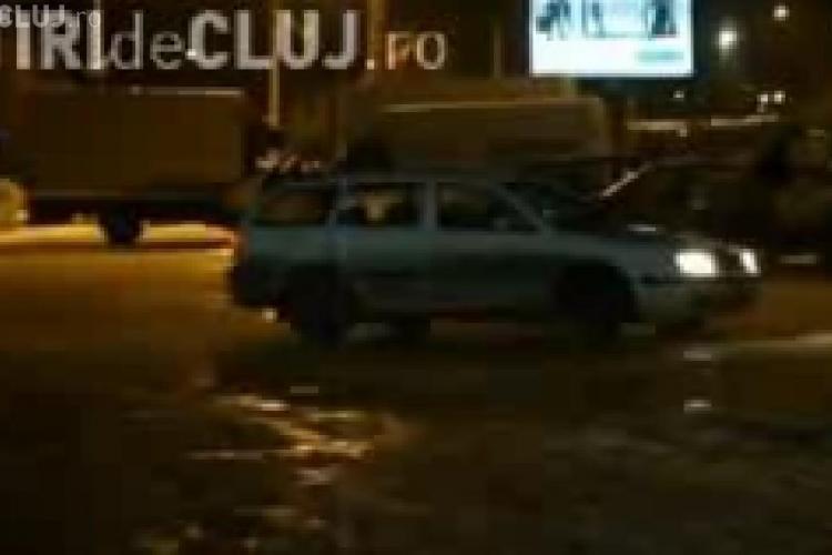 Drifting pe gheata la Sala Sporturilor din Cluj - Vezi VIDEO