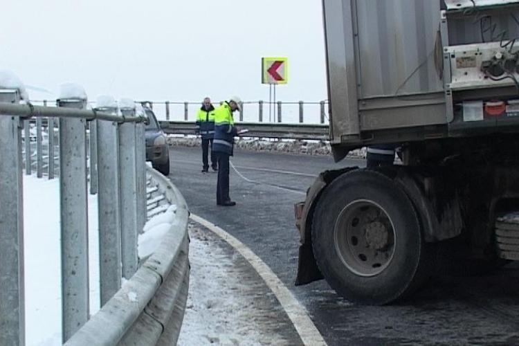 Trafic blocat pe autostrada Transilvania