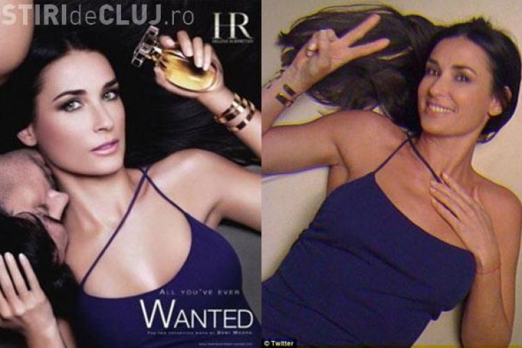 "Demi Moore ""retusata"" in Photoshop pentru o reclama la parfum"