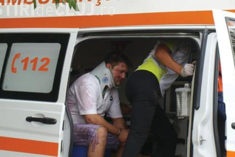 Accident in Piata Lucian Blaga din Cluj - Napoca. Un sofer baut a intrat intr-o ambulanta care transporta un pacient