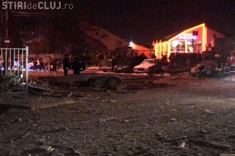 Explozie in Cluj! Casa care a explodat e complet distrusa, alte 16 sunt avariate, iar  trei persoane au fost ranite usor - VIDEO