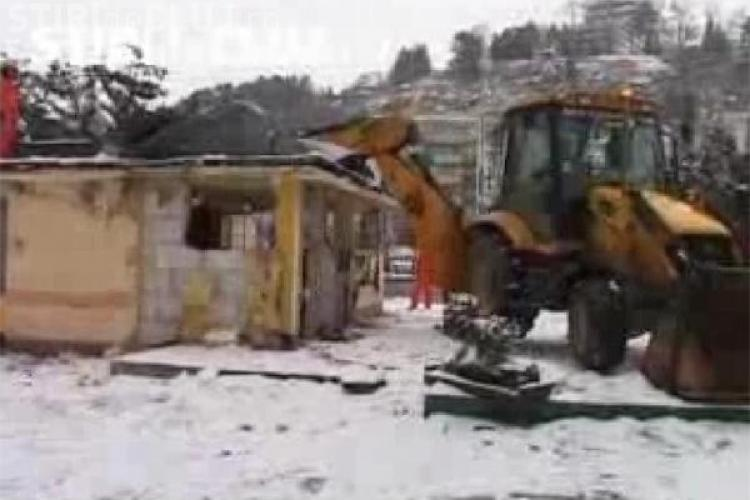 Telenovela demolarii terasei Rainbow din Cluj continua! -VIDEO