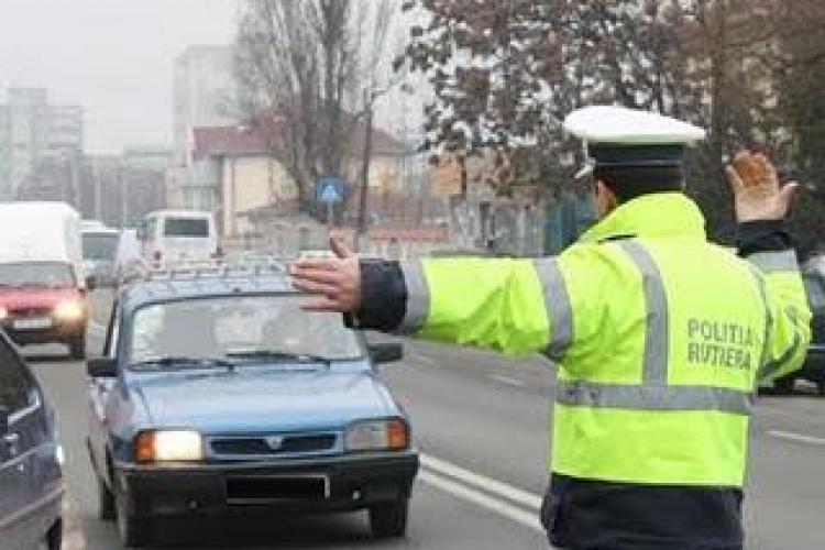Razie rutiera la Cluj! 16 permise suspendate pentru viteza si consum de alcool