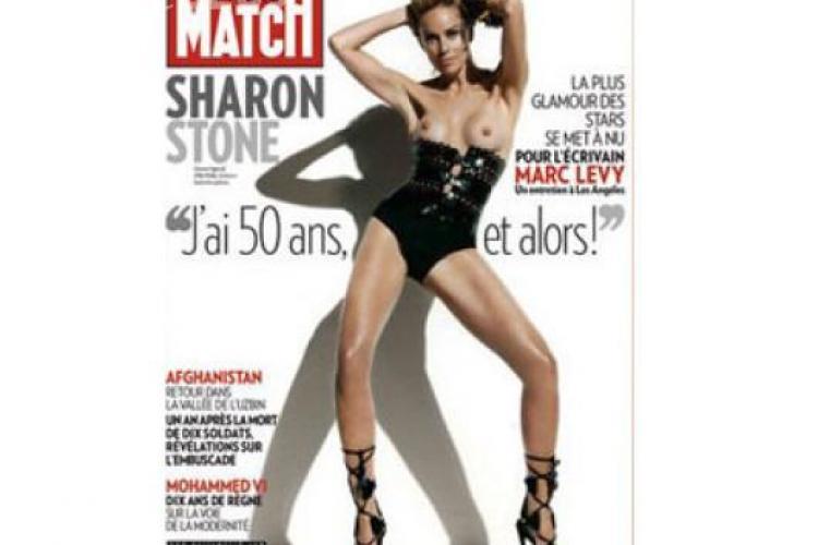 Sharon Stone, fotografiata nemachiata! Vedeta e plina de riduri si fire albe! - FOTO