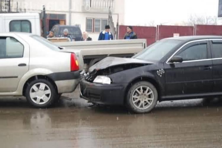Jandarm implicat intr-un accident la Campia Turzii!