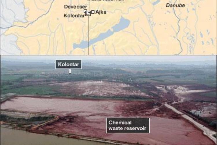 Dezastru ecologic in Ungaria! Reziduurile toxice ar putea ajunge in Romania - VIDEO