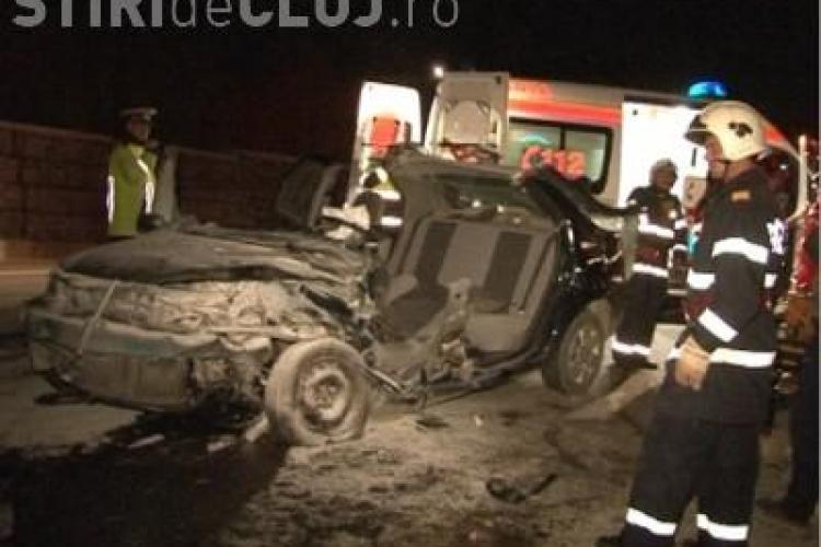 Accident mortal pe centura orasului Gherla, in Bunesti! Victima a stat incarcerata 45 de minute - FOTO