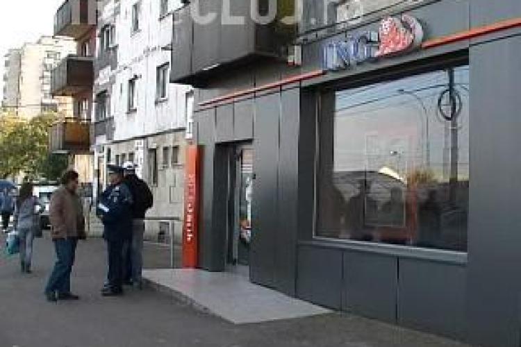 Galerie FOTO de la spargerea de la sucursala ING Cluj, Calea Floresti!