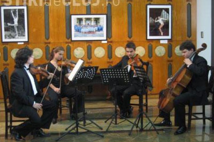 Cvartetul Arcadia sustine un concert la Academia de Muzica din Cluj Napoca