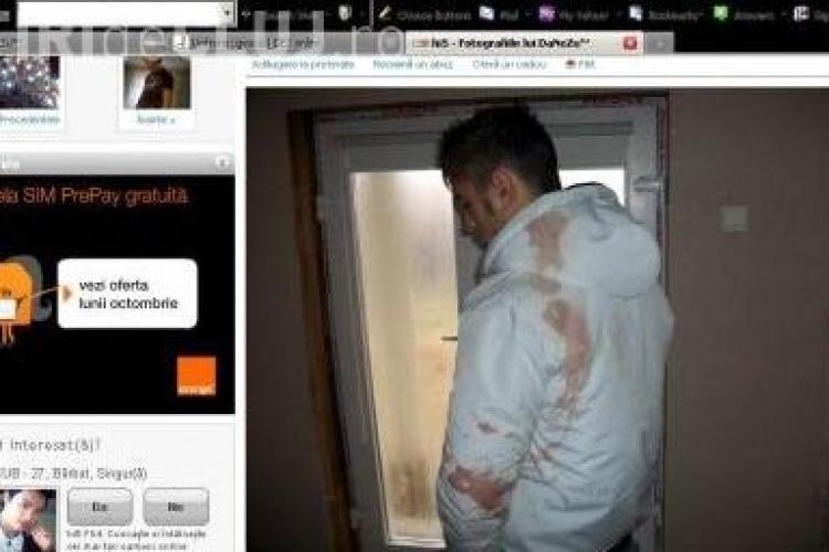 Ucigasul din Craiova si-a pus pe Hi5 poze cu hainele pline de sange - FOTO
