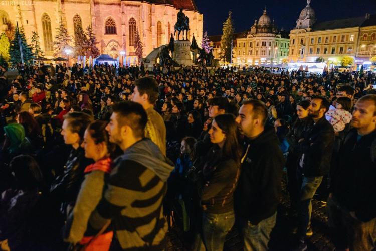 Clujul nu a dormit azi noapte! Imagini din centrul orașului de la evenimentele Clujul nu Doarme