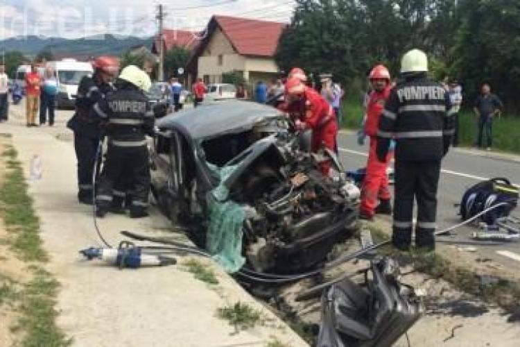 Cetățean străin mort la Dej în urma unui accident tragic. Soția sa e rănită grav FOTO