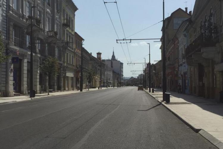 S-a reluat circulația normală pe strada Memorandumului. Ce lucrări s-au făcut FOTO