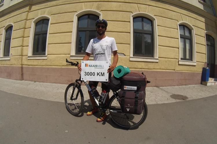 Marius Bucur a făcut turul României pe graniţă cu bicicleta
