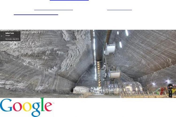 Salina Turda a poate fi vizitată VIRTUAL prin Google Maps