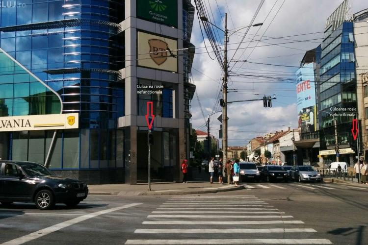 Pietonii trec pe rosu din cauza semafoarelor nefuncționale din centrul orașului. Un clujean cere socoteală primăriei