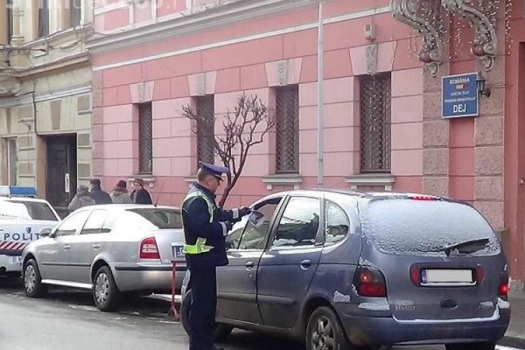 """Razie în trafic la Cluj. Polițiștii i-au """"vânat"""" pe vitezomani"""