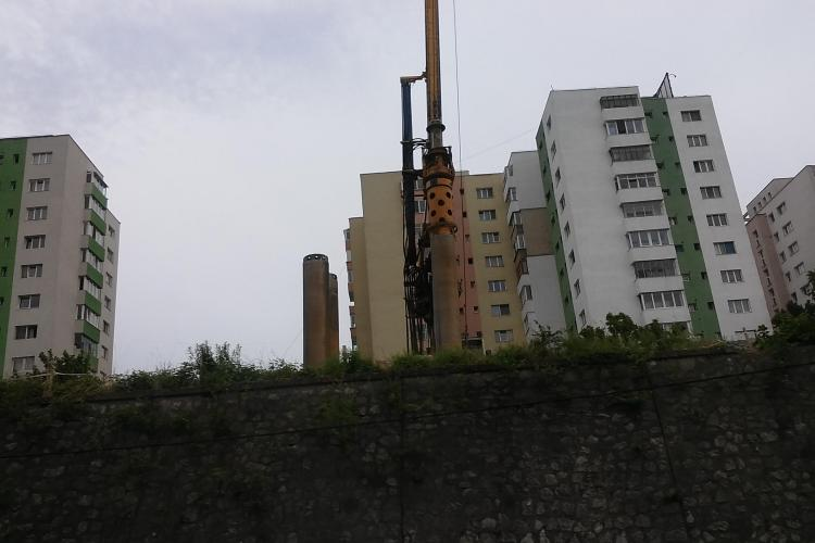 A început construcția blocului turn, de 25 de etaje, din Mănăștur - FOTO
