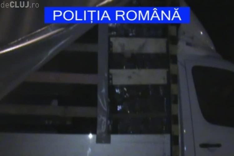 Polițiștii din Cluj au mai dat o lovitură MAFIEI de țigări. Ce captură au făcut - VIDEO