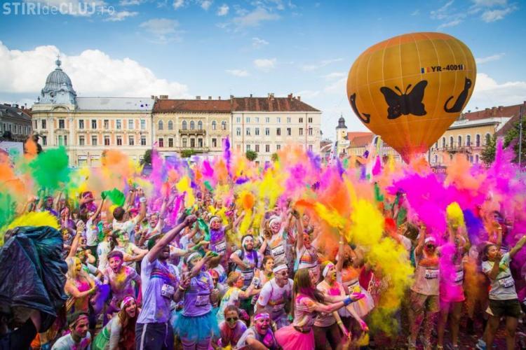 """Circulația închisă în centrul Clujului, pentru maratonul """"The Color Run"""""""