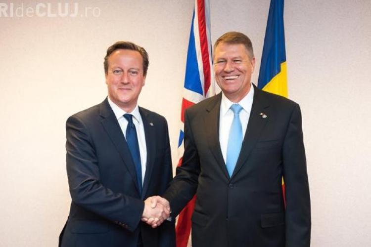 Klaus Iohannis a stat la discuții cu premierul Marii Britanii. Ce au discutat