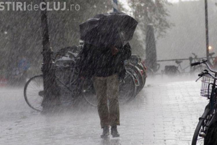 Avertizarea meteo de ploi! Ce zone din județul Cluj vor fi afectate