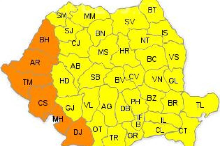 România e sub COD GALBEN de caniculă. Ce temperaturi se anunța la Cluj